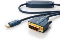 ClickTronic HQ OFC kabel Mini DisplayPort - DVI, zlacené kon., M/M, 1m
