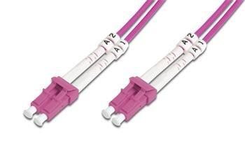 DIGITUS Fiber Optic Patch Cord, LC/LC Multimode 50/125 µ, OM4, Duplex, 1m