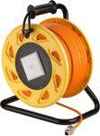 goobay Kabel na bubnu prodlužovací CAT 7A S-FTP, RJ45-RJ45, AWG 23/1 LSZH 50m