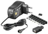 goobay Univerzální napájecí adaptér 230V/3-12V stejnosměrný 300mA