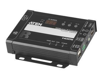 ATEN HDMI Extender over IP do 100m, 4K@60Hz, RS-232, IR, audio - remote modul