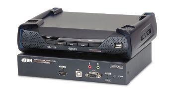 ATEN Zařízení pro ovládání 4K HDMI KVM, OverNet, rack, USB, audio, RS-232, SFP, PoE
