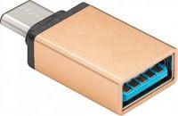 PremiumCord Adaptér USB 3.1 konektor C/male - USB 3.0  A/female, zlatý, OTG