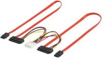 Zvětšit fotografii - PremiumCord Combo SATA datový kabel + napájecí 50cm