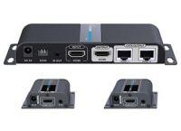 PremiumCord HDMI 1-2 splitter+extender po CAT6/6a/7, FULL HD, 3D