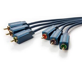 ClickTronic HQ OFC 3x CINCH - 3x CINCH propojovací kabel 5m M/M RGB / YUV