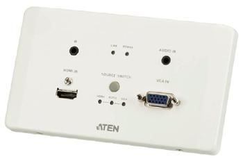 ATEN HDMI/VGA HDBaseT po cat5e do 100m, Ultra HD 4k x 2k, na zeď - Transmitter modul