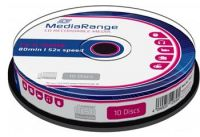 CD-R MEDIARANGE spindl 52x/700MB 10-Pack