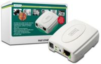 DIGITUS Ethernet print server, 1x USB 2.0 port, 1x LAN port
