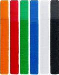 goobay Barevné pásky se suchým zipem na svazování kabelů 6ks v setu