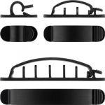 goobay Clip na kabely pro připevnění na stůl, 6ks v setu - černá barva