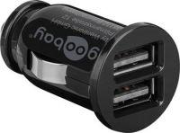 goobay Napájecí 12/24V autoadaptér na 2x USB 3,1A černý