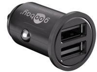 goobay Napájecí 12/24V autoadaptér na 2x USB 4,8A černý