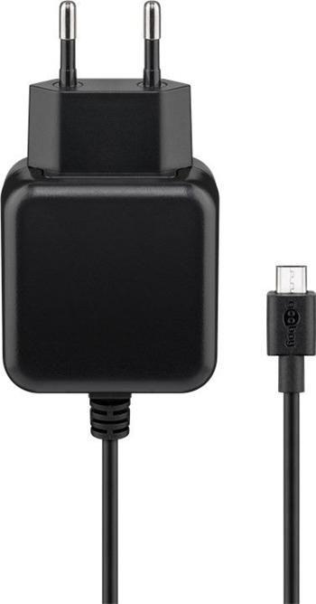 goobay Napájecí a nabíjecí adaptér 230V na micro USB, 2,5A s kabelem 1m ,černý
