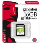 Kingston 16GB Canvas Select SDHC UHS-I U1 karta Class 10 (až 80MB/s)