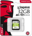 Kingston 32GB Canvas Select SDHC UHS-I U1 karta Class 10 (až 80MB/s)