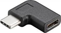 PremiumCord Adaptér USB 3.1 konektor C/male - C/female zahnutý 90°