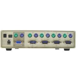 ATEN 4-port KVM PS/2, hotkey, tlačítka na předním panelu