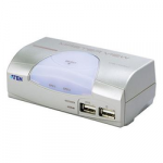 Aten 2-port KVMP USB, usb hub, 1.2m kabely