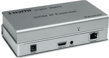 PremiumCord HDMI matrix extender na 200m, over IP, pro počítačovou síť