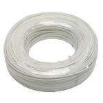 PremiumCord Kabel telefonní 2 žíly 100m bílý