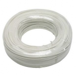 PremiumCord Kabel telefonní 2 žíly 1m - bílý
