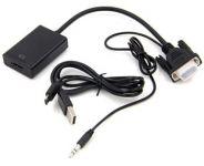 PremiumCord VGA+audio elektronický konvertor na rozhraní HDMI FULL HD 1080p