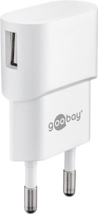 goobay Napájecí a nabíjecí adaptér 230V na 2x USB, max.2,4A, černý