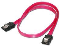PremiumCord 1,0m kabel SATA 1.5/3.0 GBit/s s kovovou zapadkou