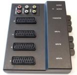 PremiumCord Přepínač 3xSCART/F-1xSCART/F+6xCINCH