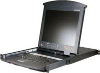 "ATEN 8-port KVM PS/2, OSD, DualRail, 17"" LCD, touchpad, klávesnice"