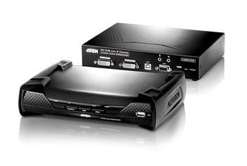 ATEN Zařízení pro ovládání DVI KVM Dual View OverNet, rack, RS-232, více počítačů, více ovládacích míst