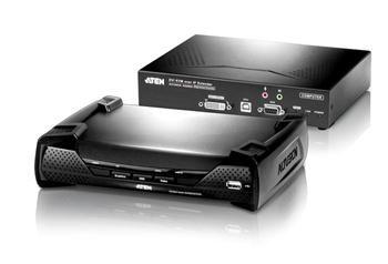 ATEN Zařízení pro ovládání DVI KVM OverNet, rack, RS-232, více počítačů, více ovládacích míst