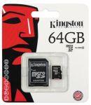Kingston 64GB micro SDXC paměťová karta Class 10 UHS-I + adaptér