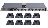 PremiumCord HDMI 1-8 splitter+extender po CAT6/6a/7, FULL HD, 3D