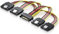 PremiumCord Napájecí rozdvojka k HDD SATA - 4x SATA