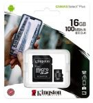 Kingston 16GB SD paměťová karta SDHC Canvas Select micro + adaptér