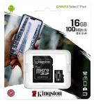 Kingston 16GB SD paměťová karta SDHC Canvas Select micro + adaptér