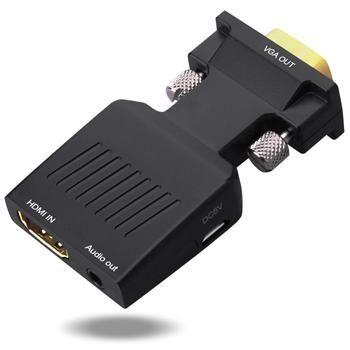 PremiumCord Převodník HDMI na VGA s audio výstupem a kabelem