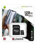 Kingston 128GB Micro SDXC Canvas Select 100MB/s UHS-I + adaptér