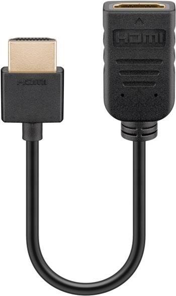 PremiumCord Flexi Adaptér HDMI Male - Female pro ohebné zapojení kabelu do TV